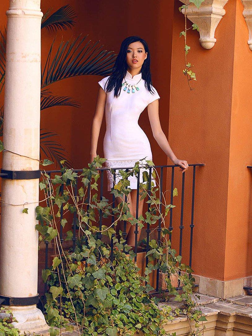 Cotton Linen Qipao Dress