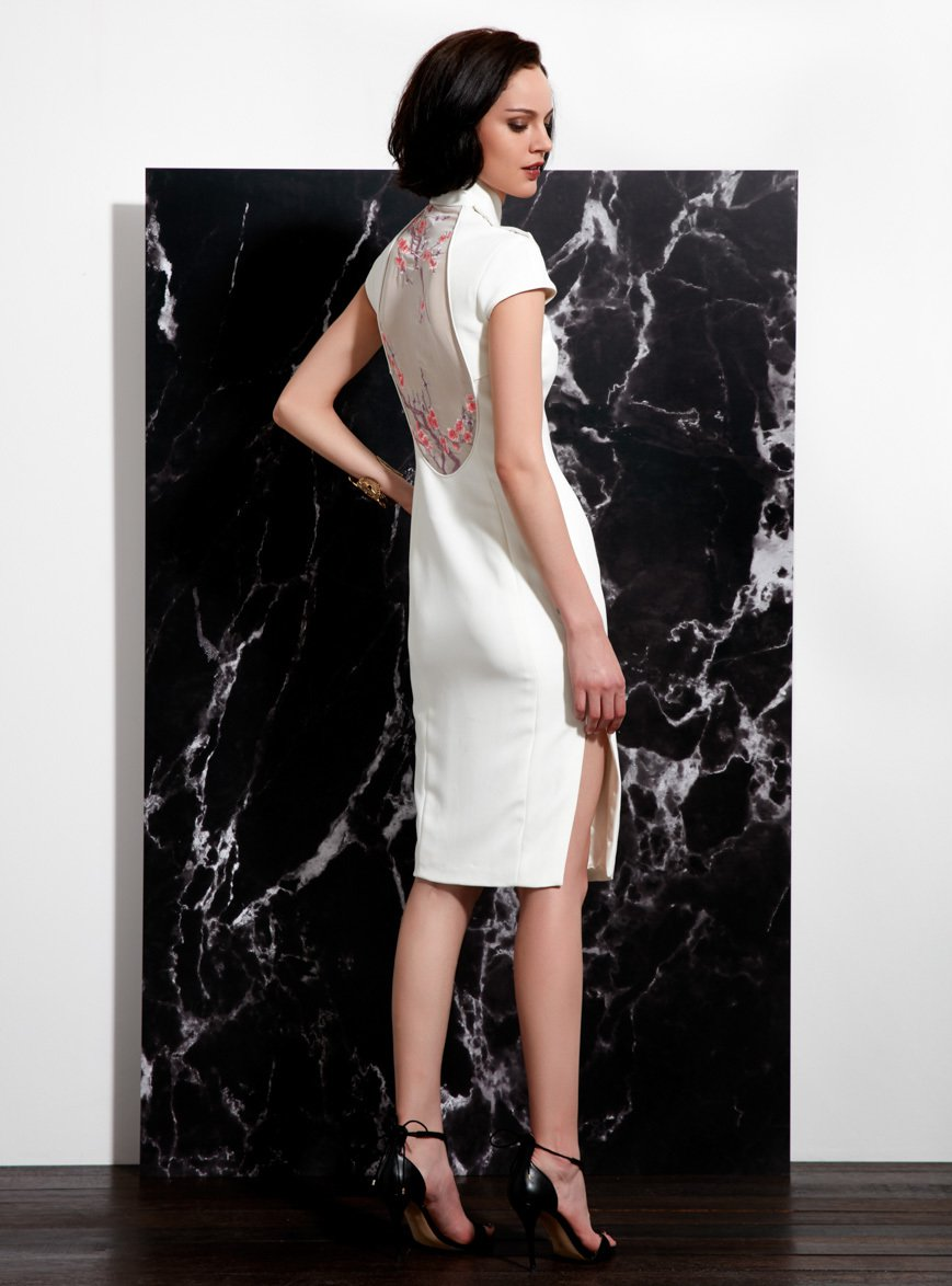 Qipao white semi plan
