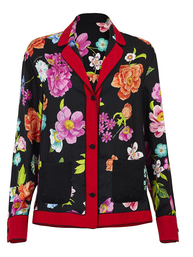Flower Pajama Silk Shirt