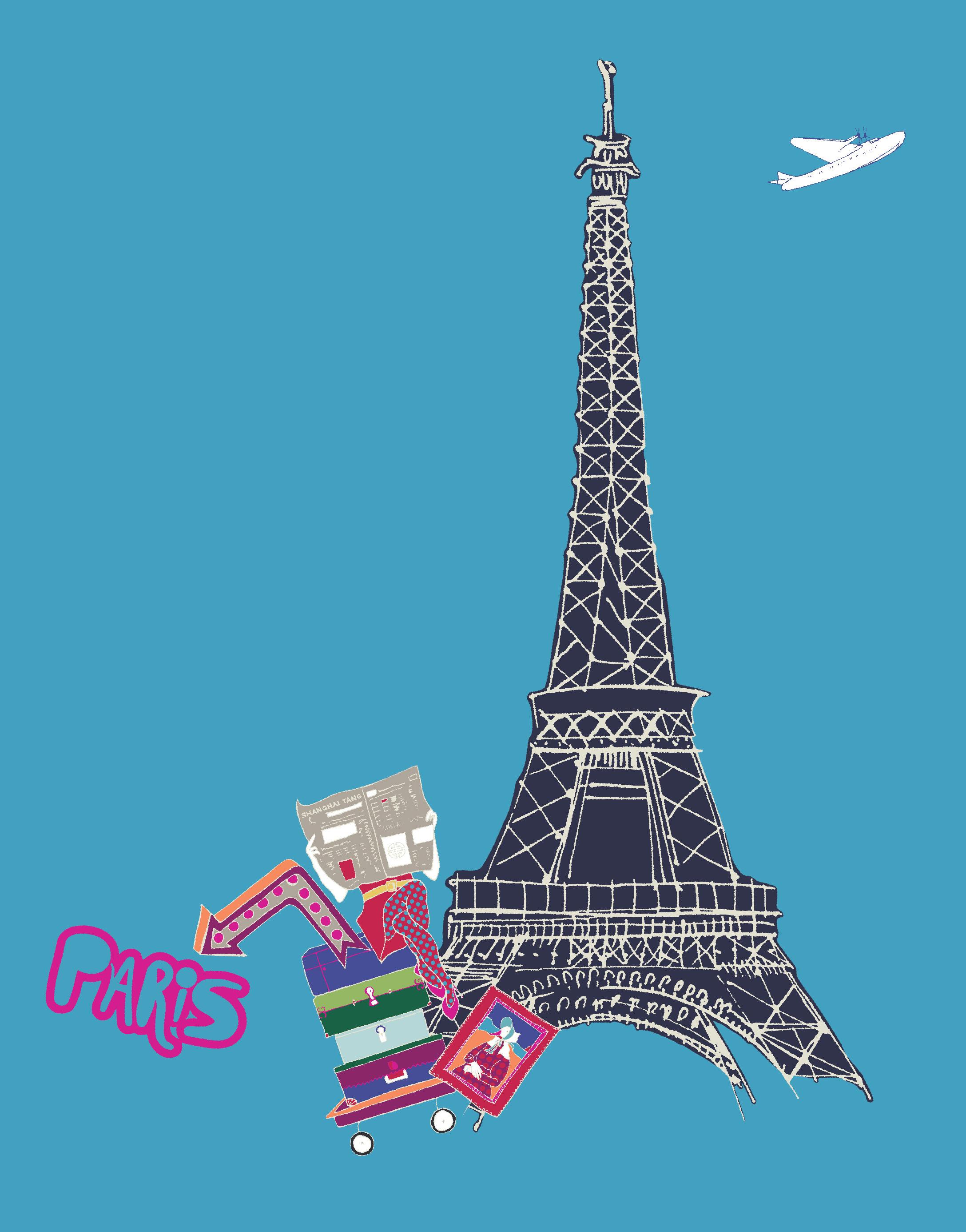 crayon blue Paris