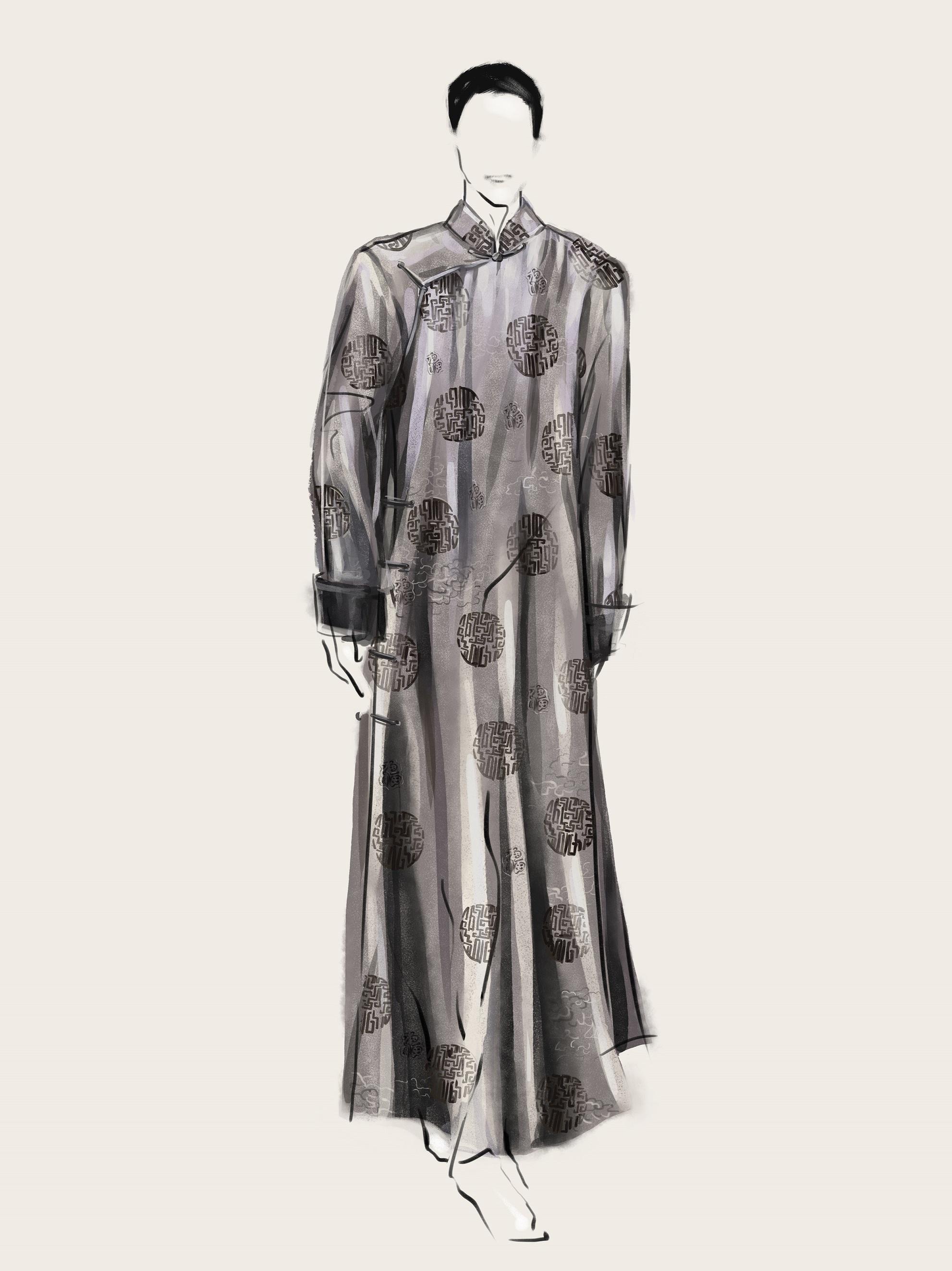 SHT-men1 Jacquard Silk Robe