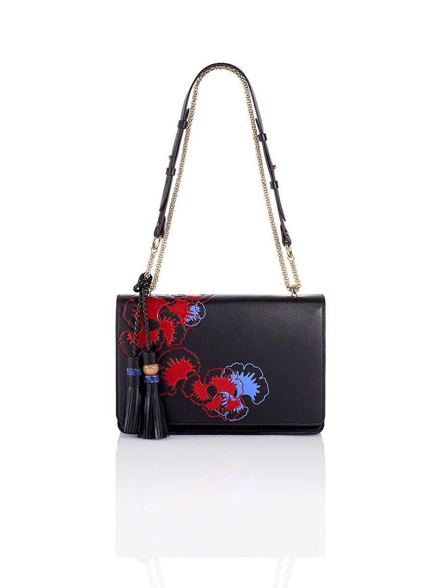 Gingko Embossed Small Flap Bag