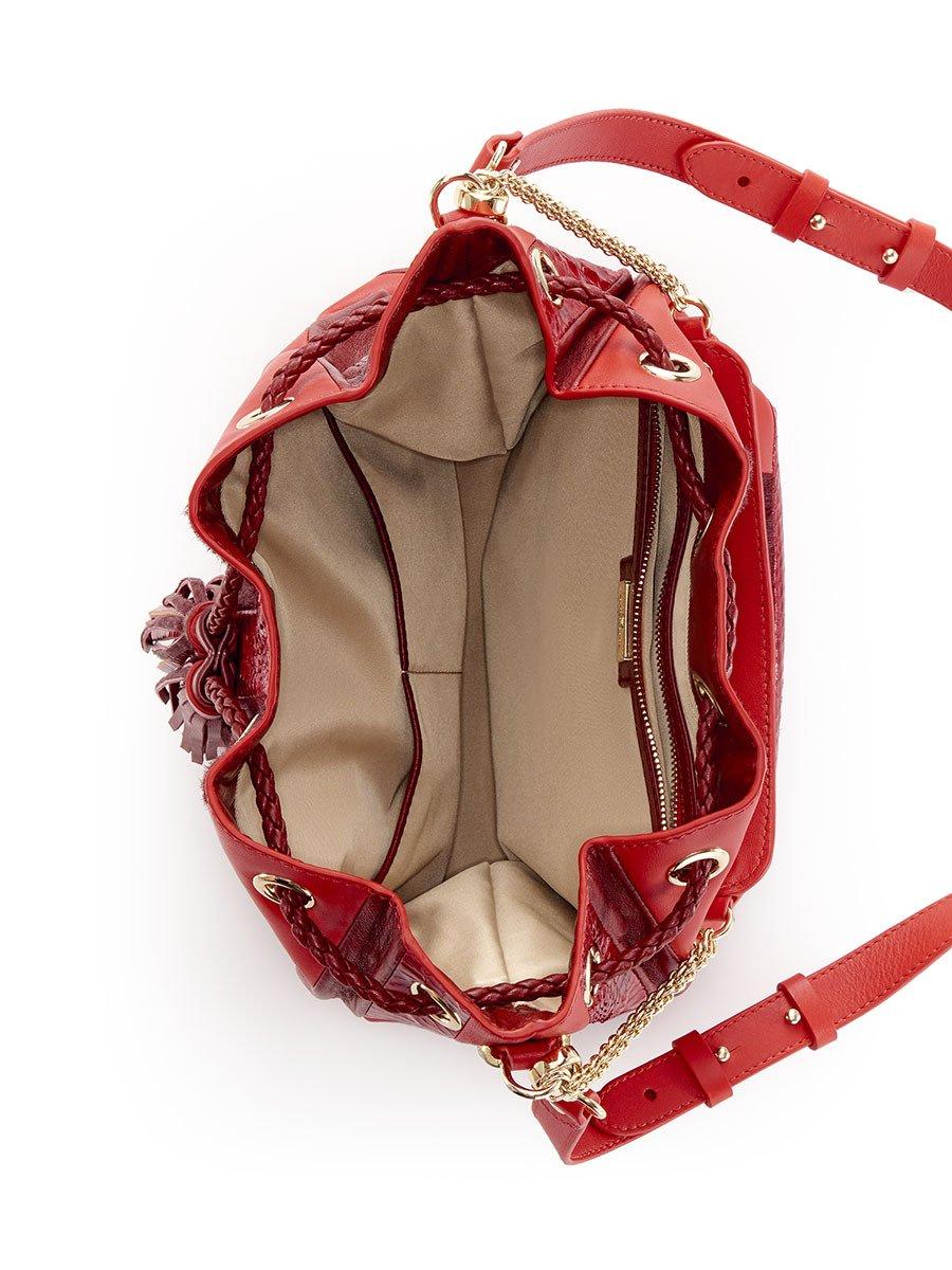 Mongolian Patchwork Drawstring Bag