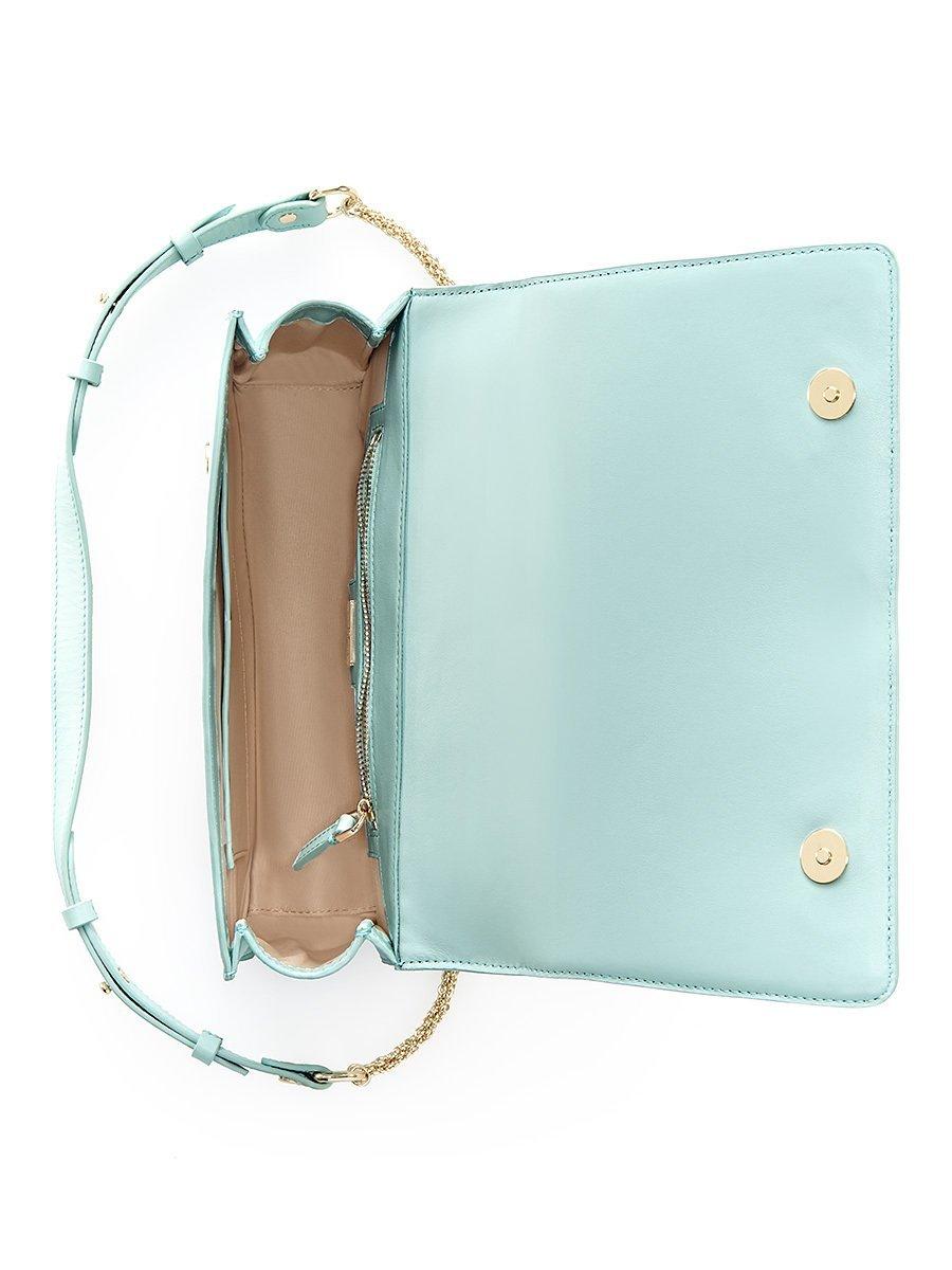 Porcelain Embossed Shoulder Bag