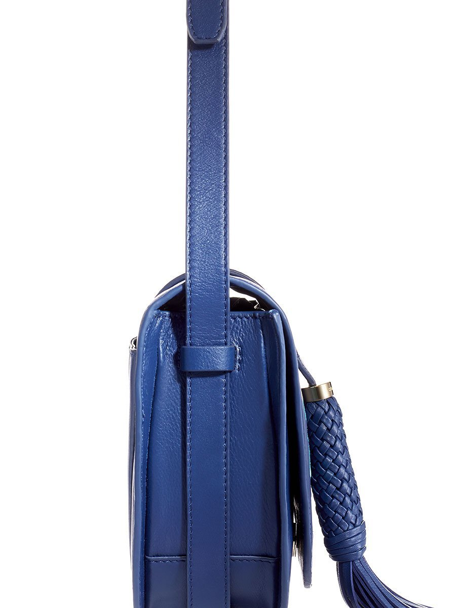 Tassel Lotus Embroidery Saddle Bag