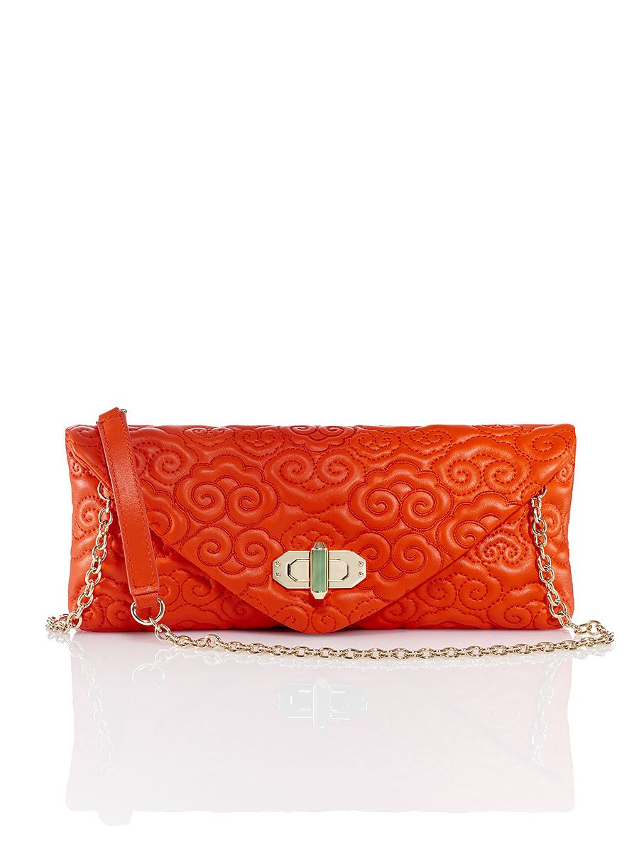 Cloud Quilted Leather Clutch