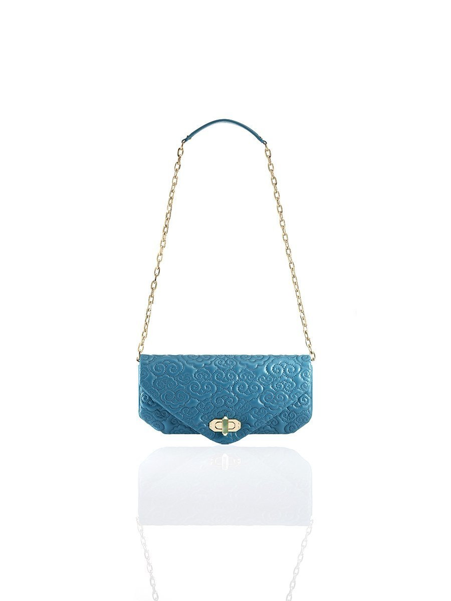 Cloud Quilted Leather Long Clutch