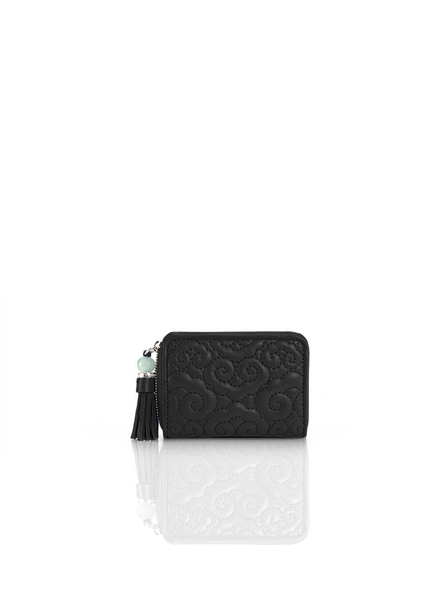 Cloud Quilted Leather Coin Purse