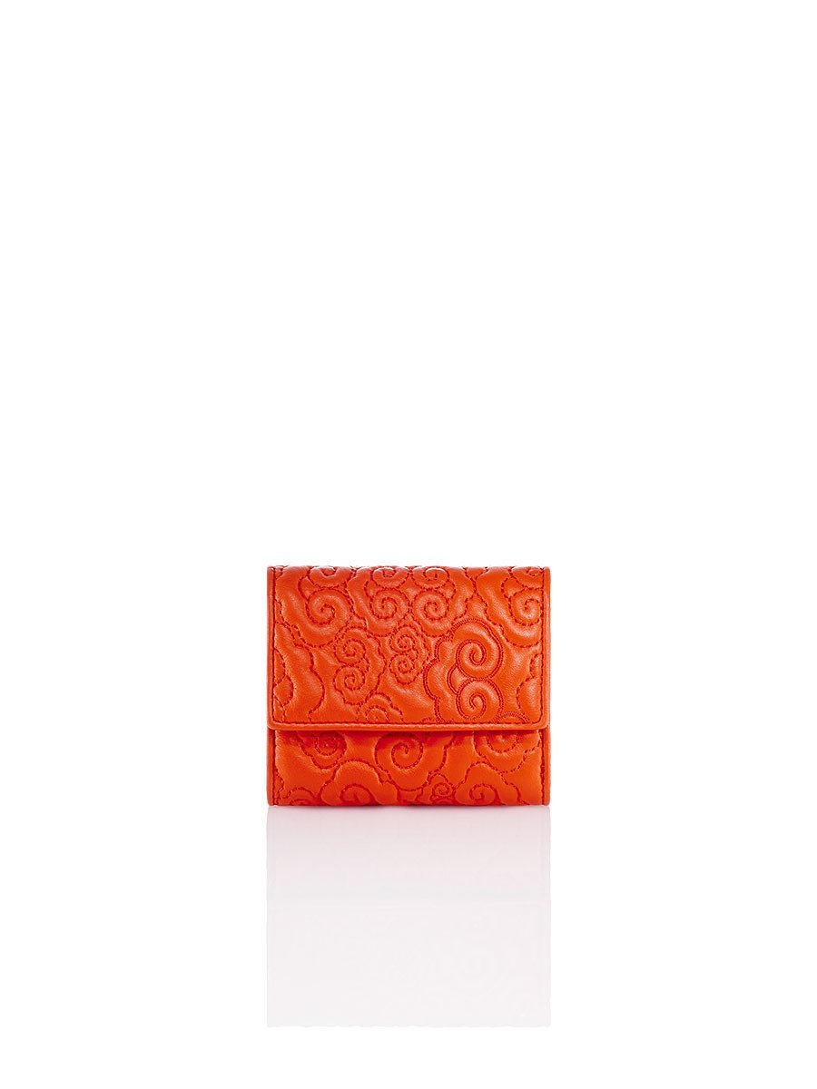 Cloud Quilted Leather Compact Wallet