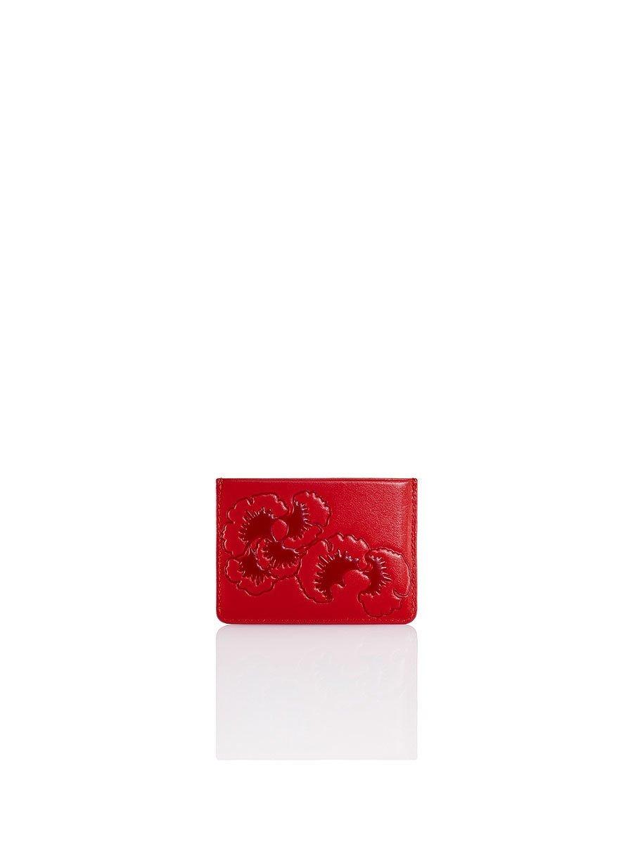 Gingko Embossed Flat Card Case
