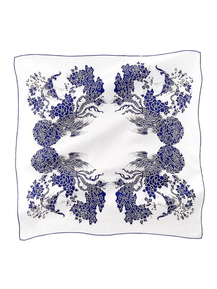 Phoenix Printed Silk Twill Square Scarf