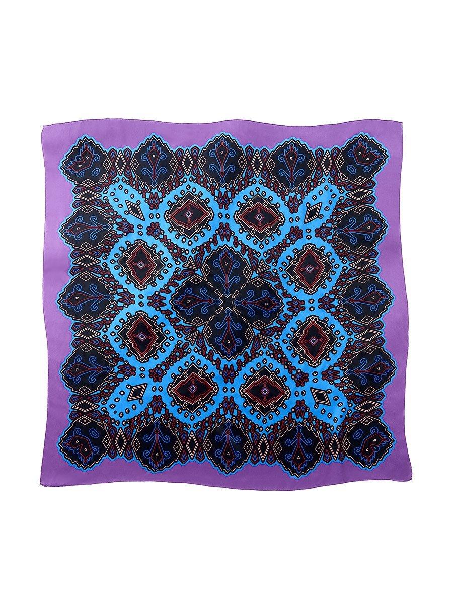 Ikat Silk Satin Chiffon Printed Square Scarf