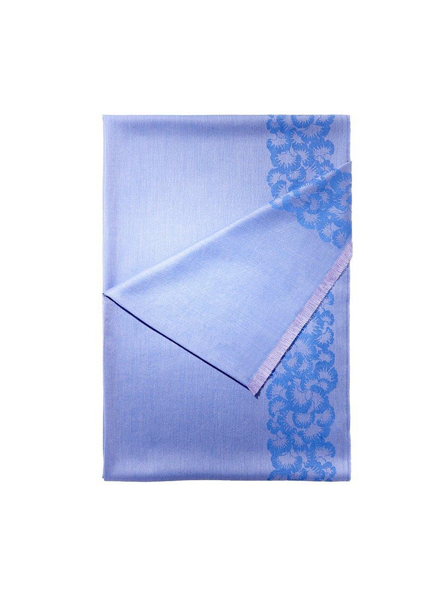 Ginkgo Ribbon Silk Cashmere Jacquard Shawl