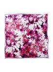 Chinese Blossom Silk Satin Chiffon Square Scarf