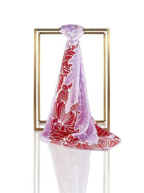 Prisma Silk Satin Chiffon Square Scarf