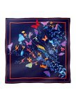 Mix Landscape Satin Chiffon Silk Square Scarf