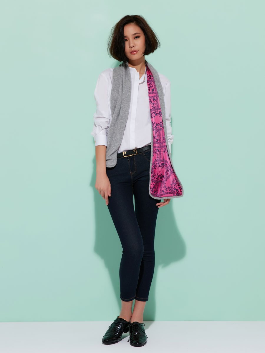 Cashmere Silk Chinese Tales Printed Scarf