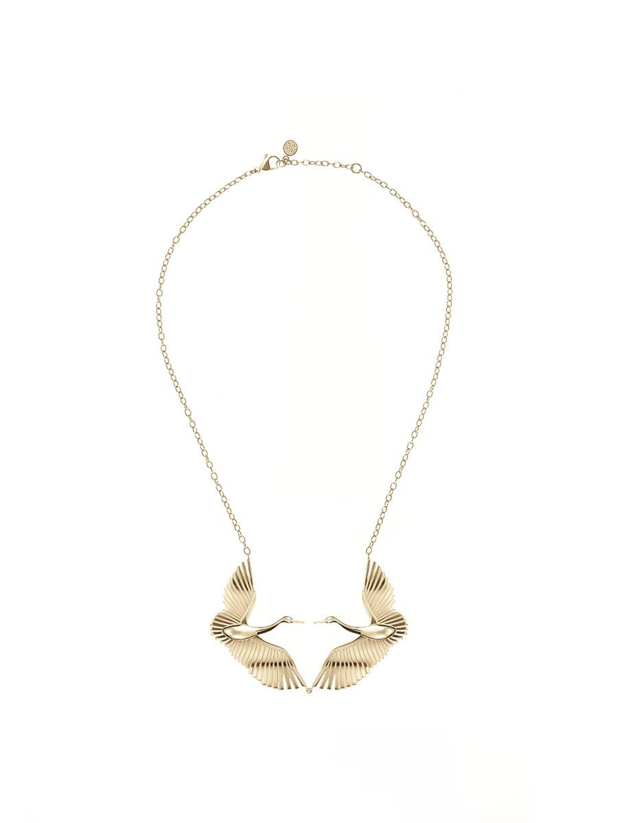 Crane Necklace