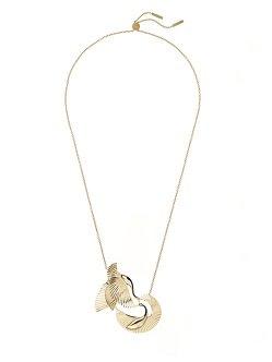 Crane Long Pendant Necklace