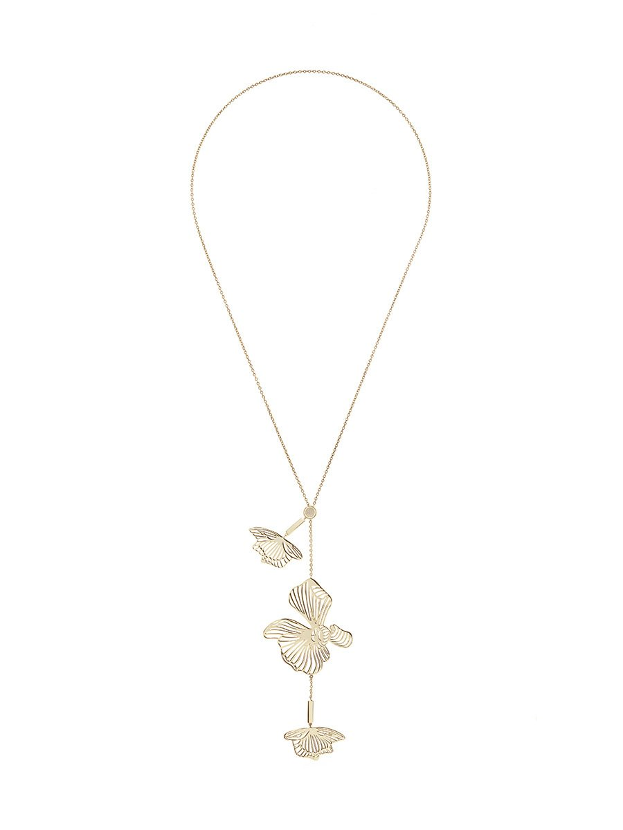 Orchid Long Pendant Necklace
