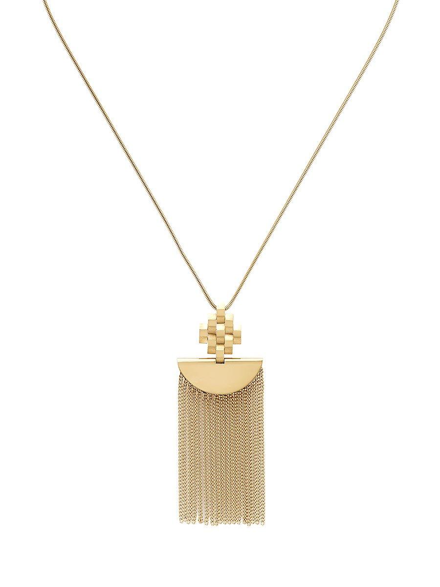 Mongolian Ikat Tassel Necklace
