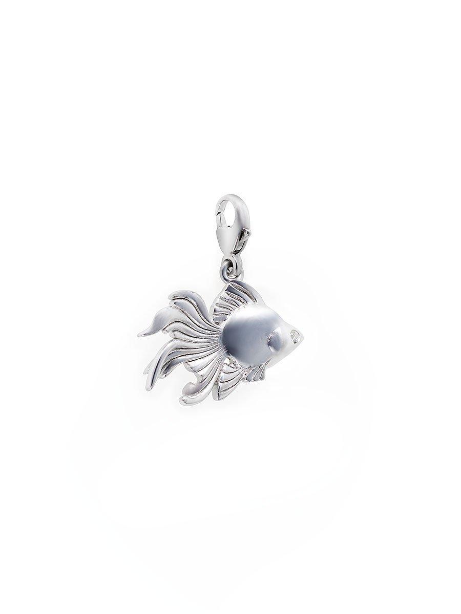 925 Silver Charm Goldfish