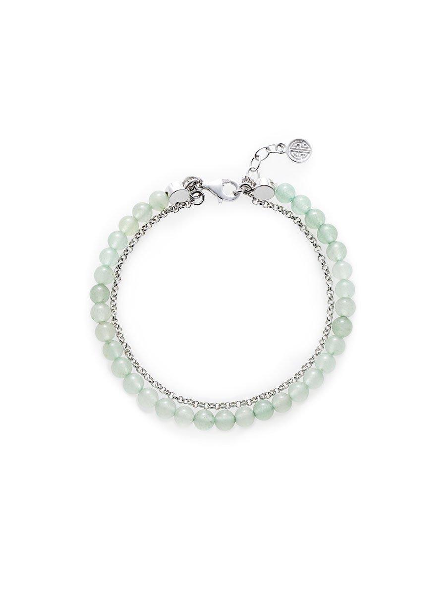 925 Silver Aventurine Bracelet