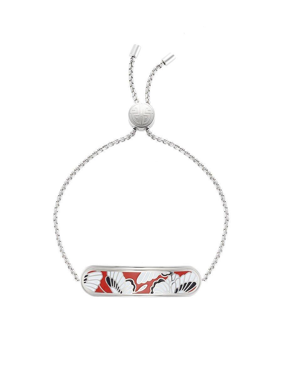 Butterfly Bar Enamel Bracelet