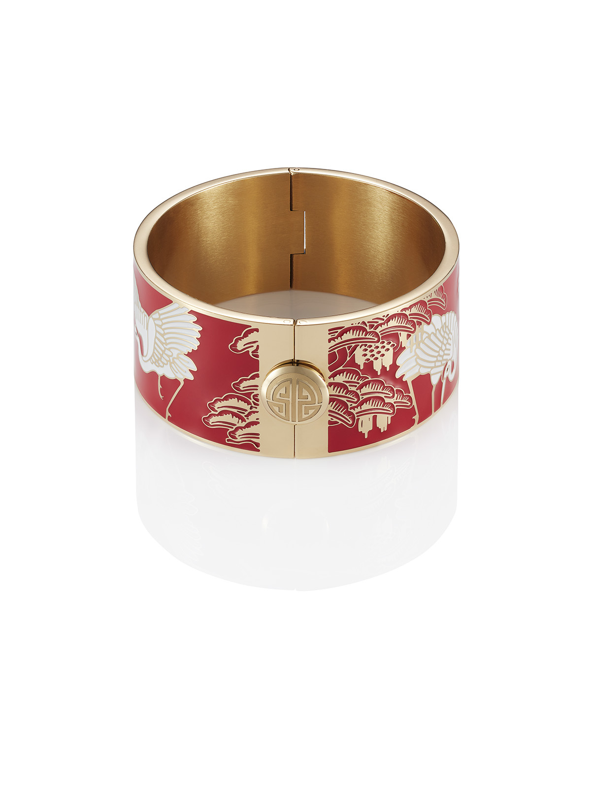 Crane Enamel Bangle