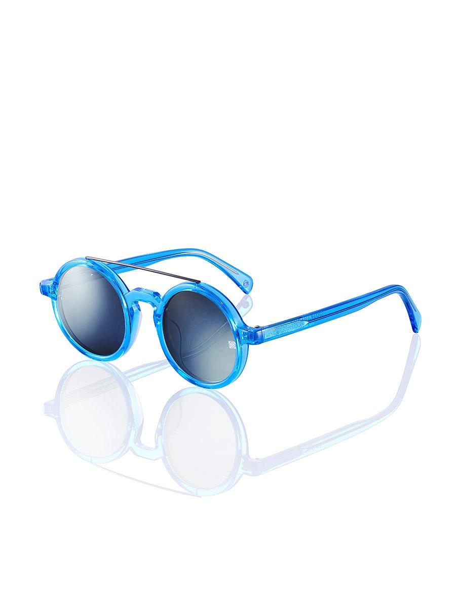 Retro Chinese Round Sunglasses Ocean Blue
