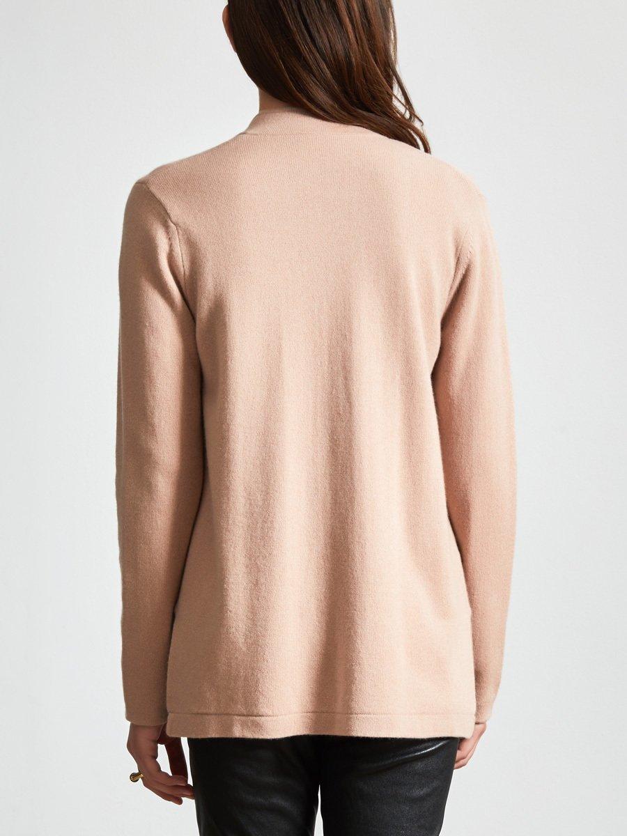 Cashmere-Silk Reversible Jade Cardigan