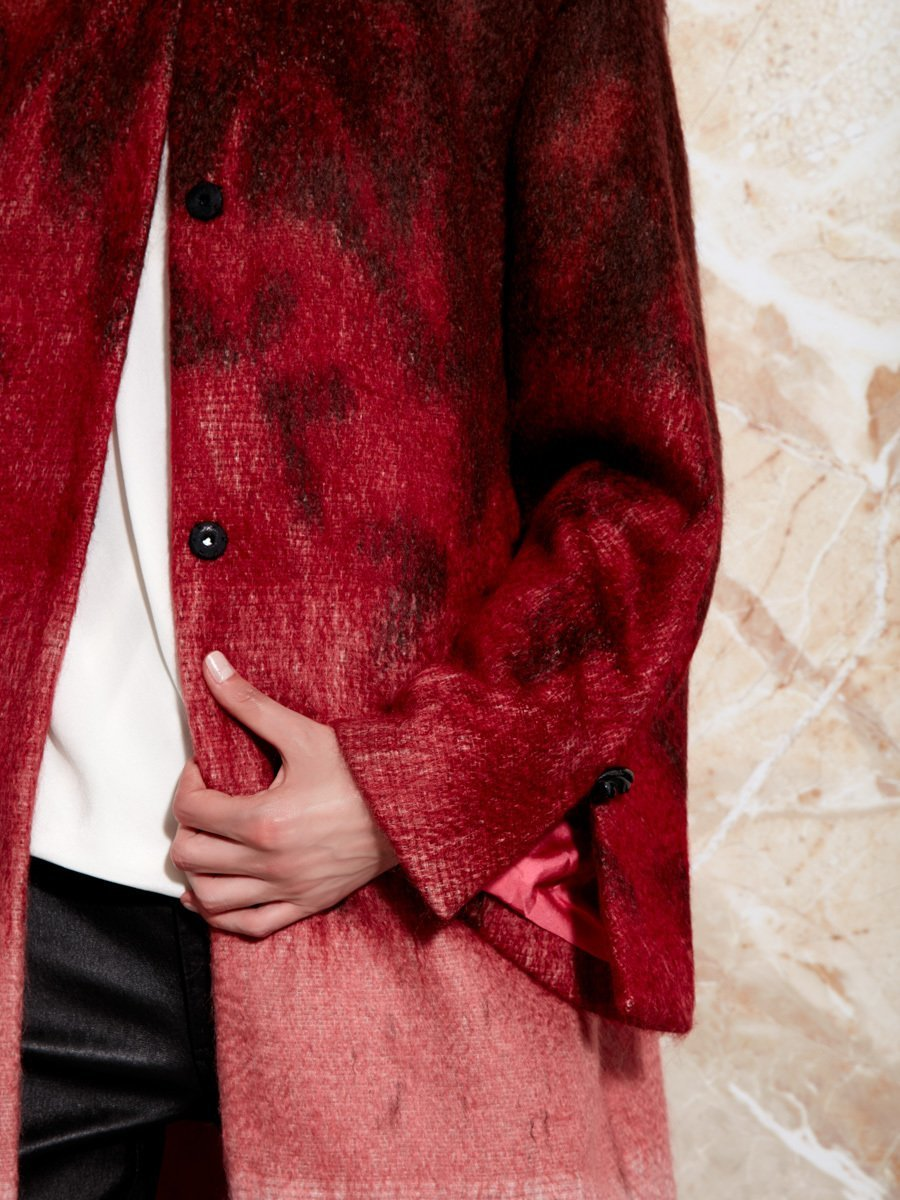 Degrade Wool-Mohair Coat