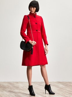Wool Blend Long Coat