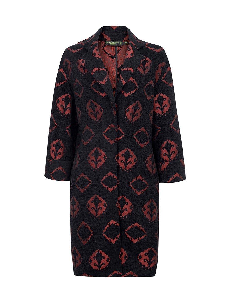 Ikat Jacquard Coat
