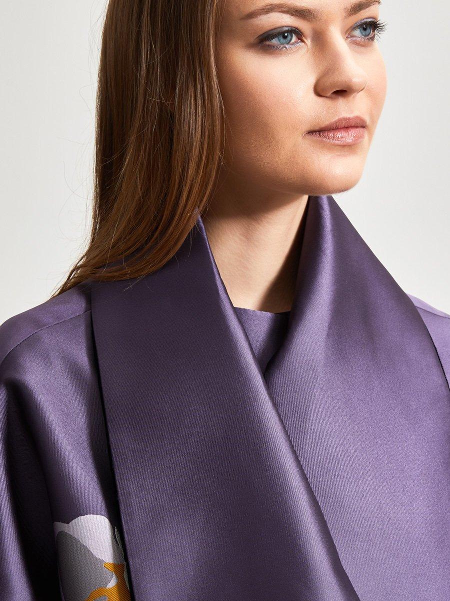 Orchid Jacquard Coat