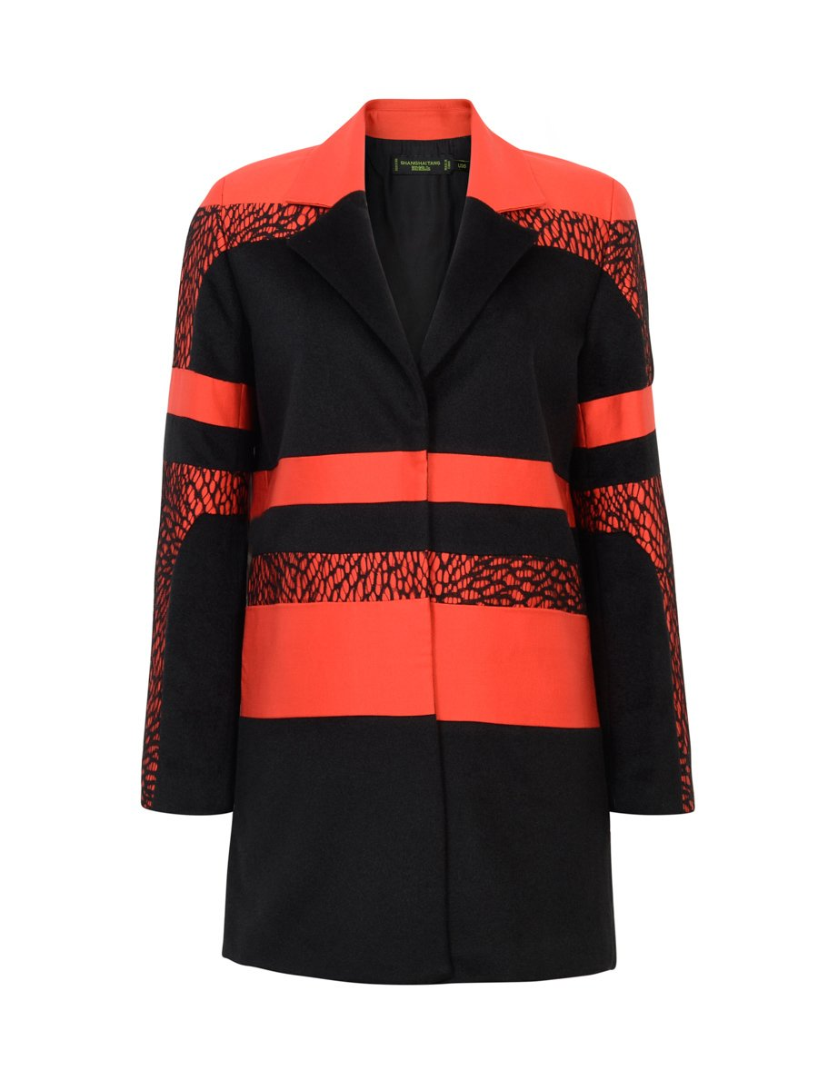 Patchwork Cashmere Coat