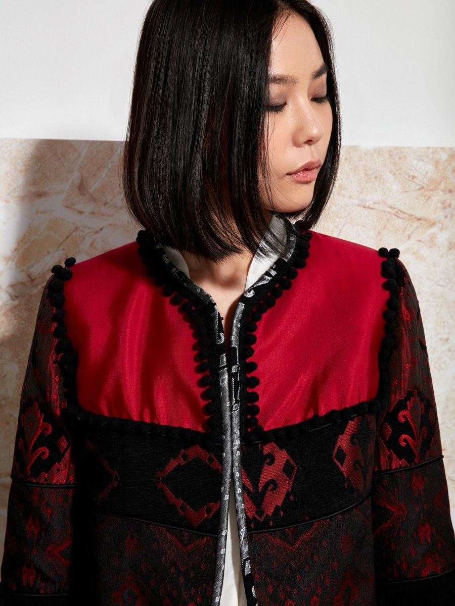 Silk-Cotton Patchwork Jacket