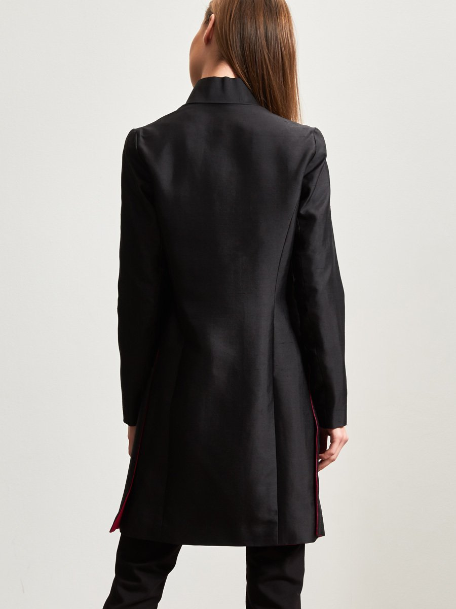 Silk Reversible Jacket with Embroidery