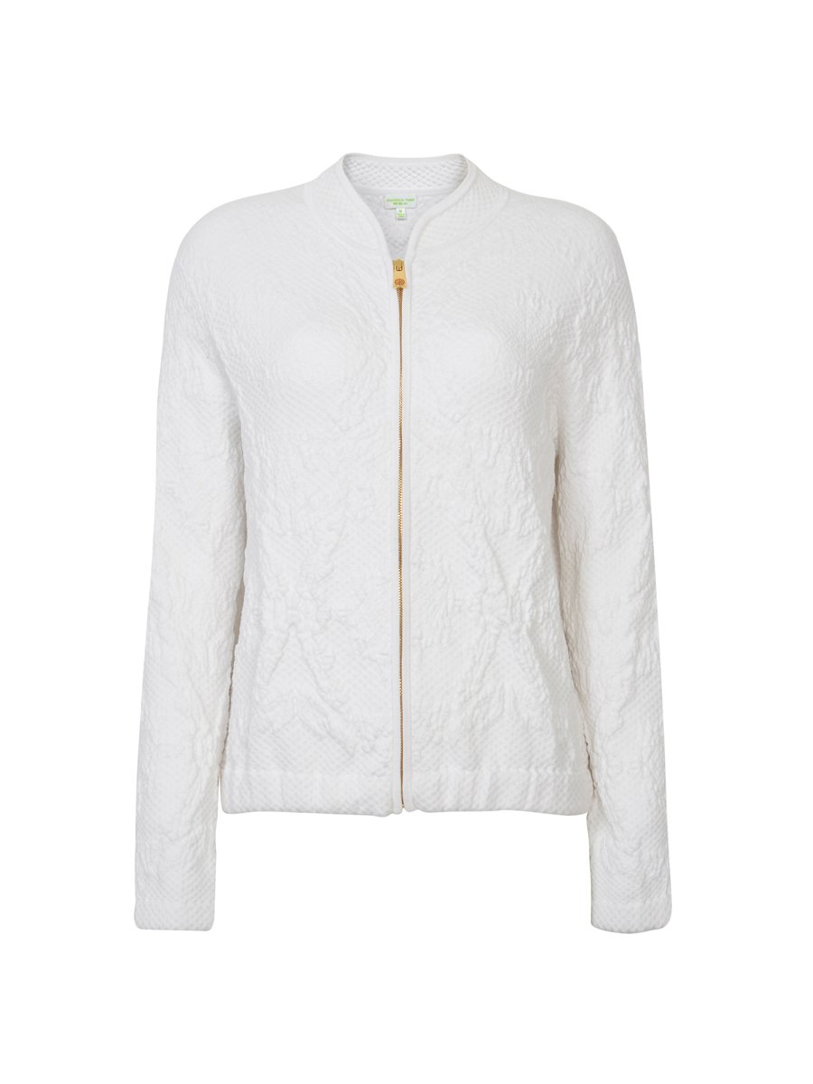 Cotton Pucket Knitted Bomber Jacket