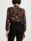 Silk Ginkgo Allover Print Shirt
