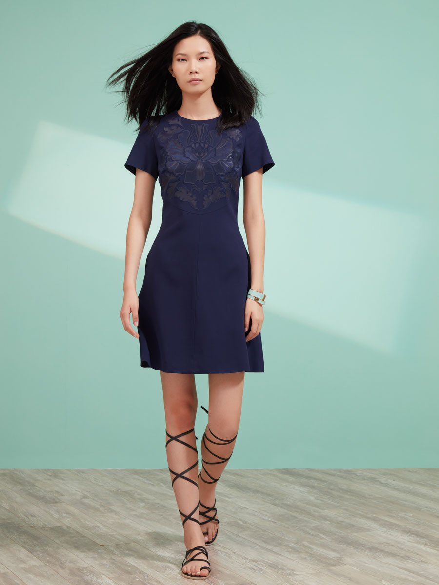 A-Line Dress with Embroidery