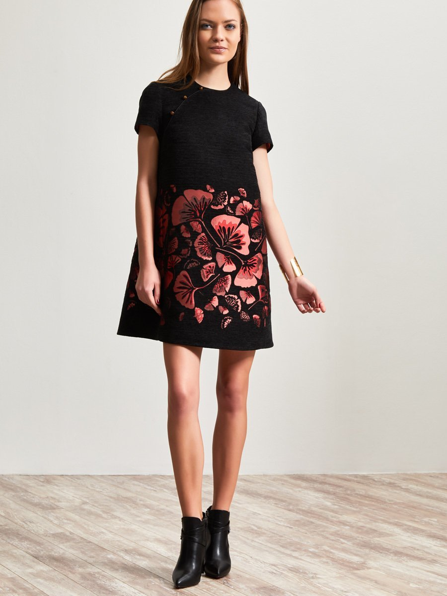 Ginkgo Jacquard Dress