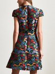 Allover Ginkgo Jacquard Dress