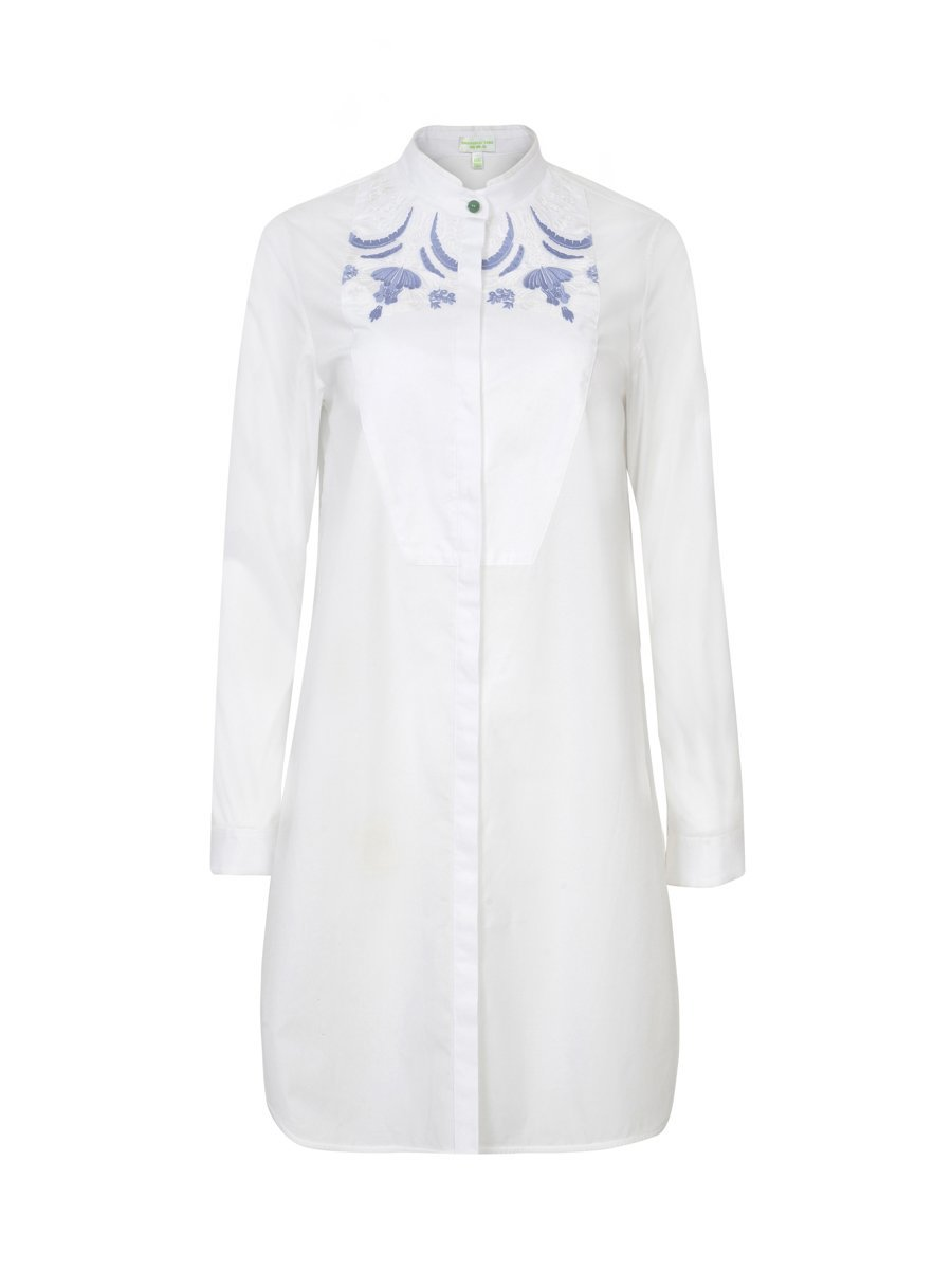 Long Shirt Dress with Embroidery
