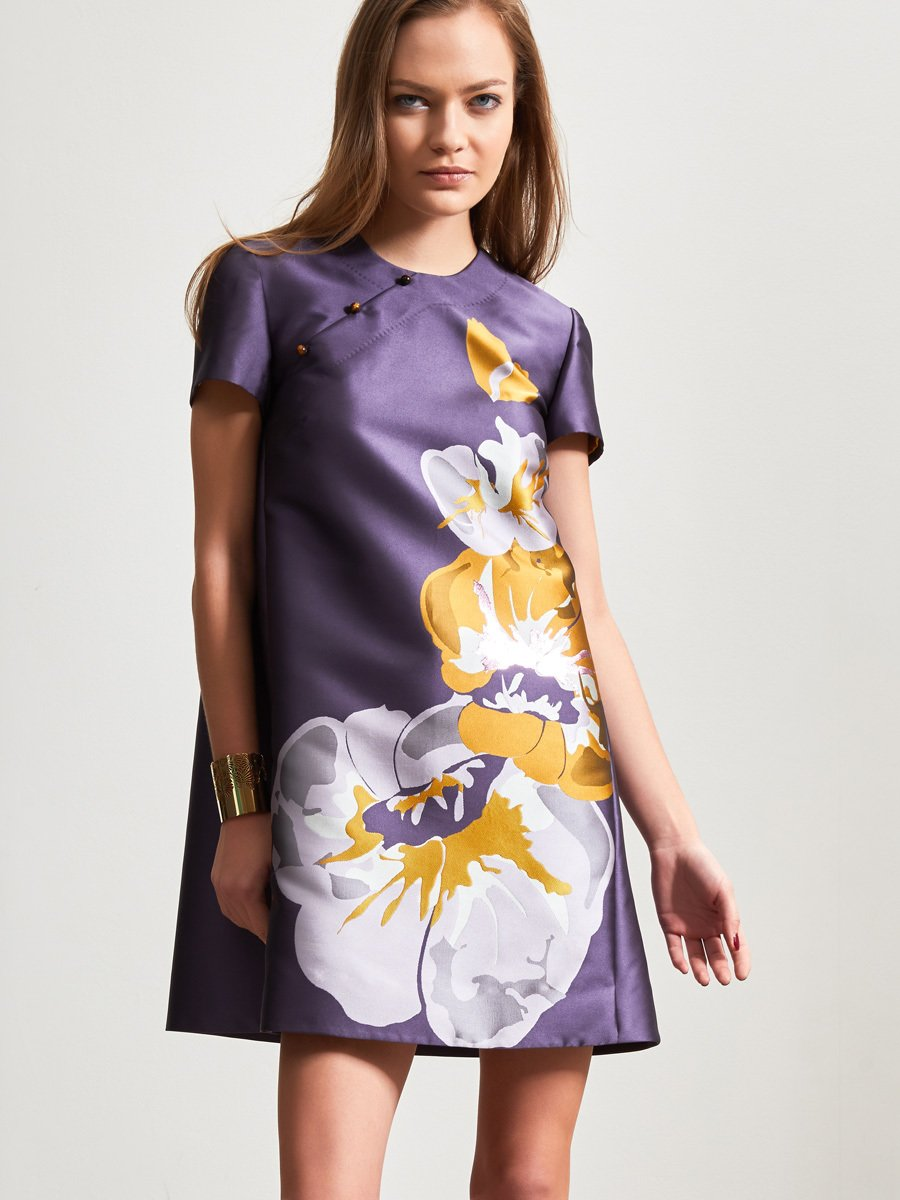 Orchid Jacquard Dress