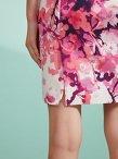 Chinese Blossom Print Sleeveless Pencil Dress