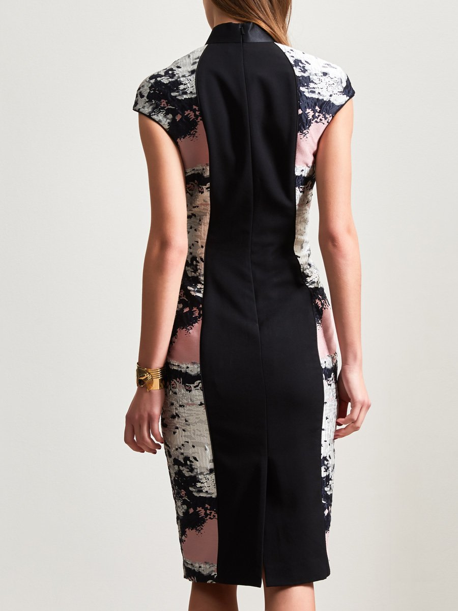 Moss Jacquard Qipao Dress