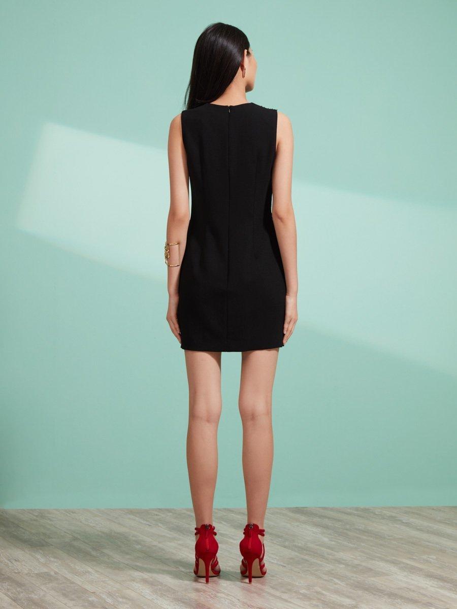 Wool Pleat Dress