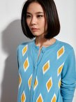 Jewel Ikat Jacquard Wool Cardigan