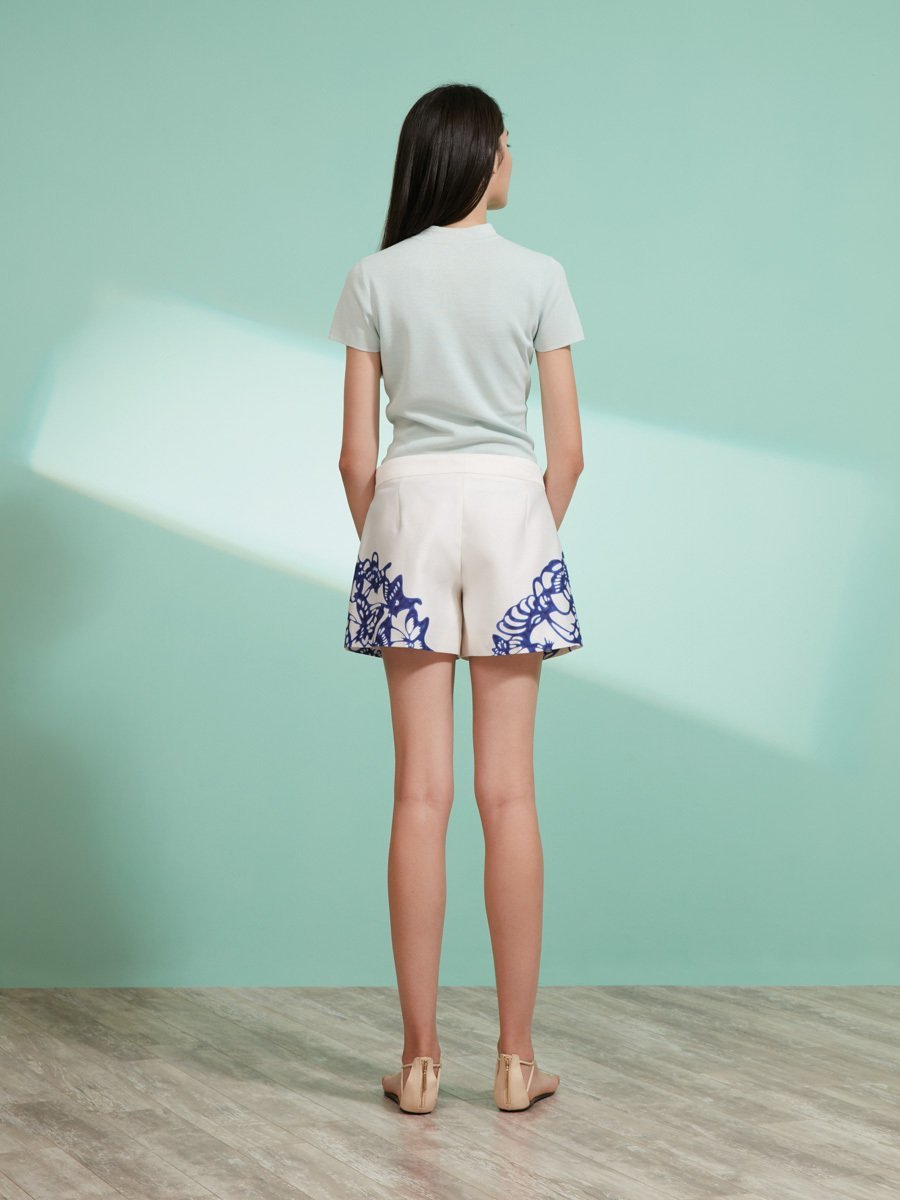 Butterfly Plate Print Shorts